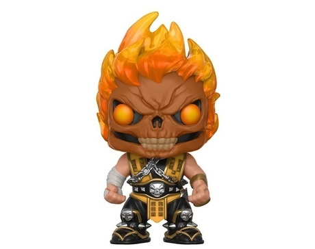 Фигурка Funko Pop Games: Mortal Kombat - Scorpion Skull Head #255, Exclusive, Vinyl Figure