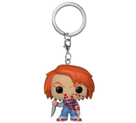 Ключодържател Funko Pocket Pop Movies: Child's Play 2 – Chucky Bloody, Exclusive, Figure Keychain
