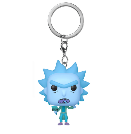 Ключодържател Funko Pocket Pop: Rick & Morty – Hologram Rick Clone, Figure Keychain