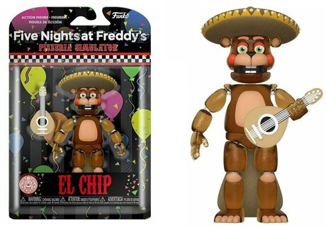 Екшън фигурa Funko Pop Games: Five Nights at Freddy's Pizza Simulator – El Chip GLOW