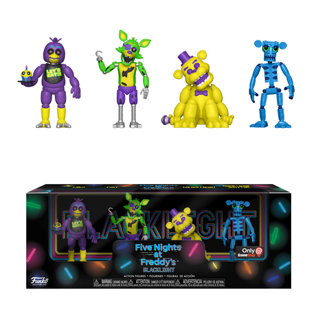 Екшън фигури Funko Pop Games: Five Nights at Freddy's Blacklight, Exclusive 4-Pack Set
