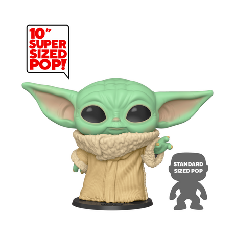"Фигурка Funko Pop Movies: Star Wars The Mandalorian - The Child, Baby Yoda 10"" #369, Vinyl Figure"