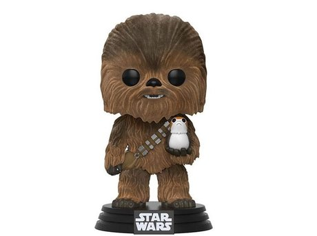 Фигурка Funko Pop Movies: Star Wars - Chewbacca with Porg Flocked #195, Vinyl Figure