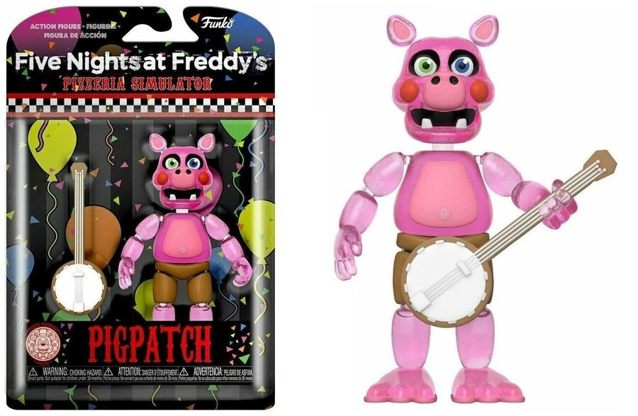 Екшън фигурa Funko Pop Games: Five Nights at Freddy's Pizza Simulator – Pigpatch GLOW