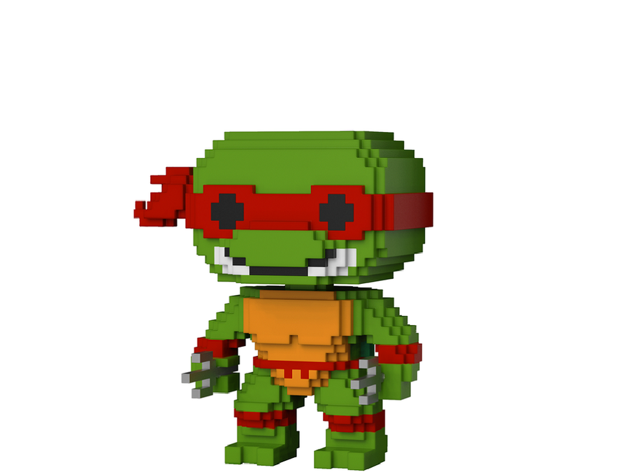 Фигурка Funko Pop 8-Bit : Teenage Mutant Ninja Turtles – Raphael #06, Vinyl Figure
