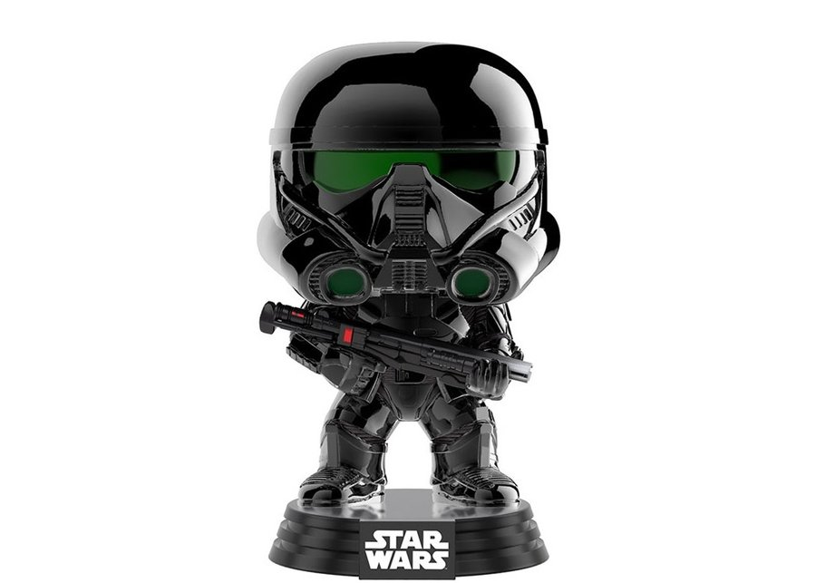 Фигурка Funko Pop Movies: Star Wars Anthology: Rogue One - Imperial Death Trooper Chrome #154, Vinyl Figure