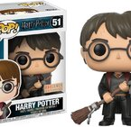 Фигурка Funko Pop Movies: Harry Potter – Harry w/ Firebolt & Feather #51, Vinyl Figure
